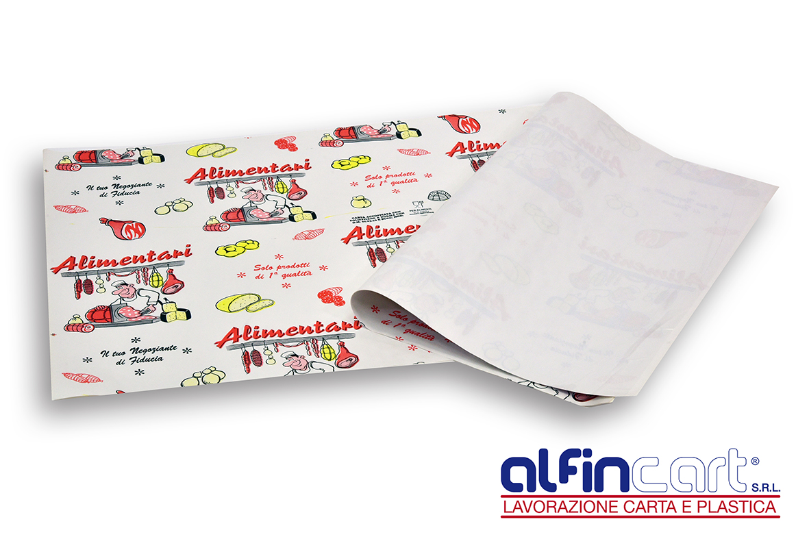 Carta accoppiata con polietilene ad alta densità per alimenti e per usi alimentari.