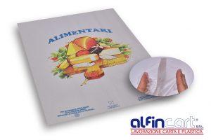 Papier triple alimentaire pour emballer les produits gras.