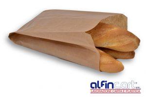 Bäckerfaltenbeutel Braun.