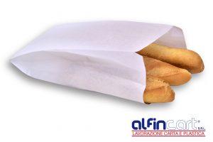 Bäckerfaltenbeutel Weiß.