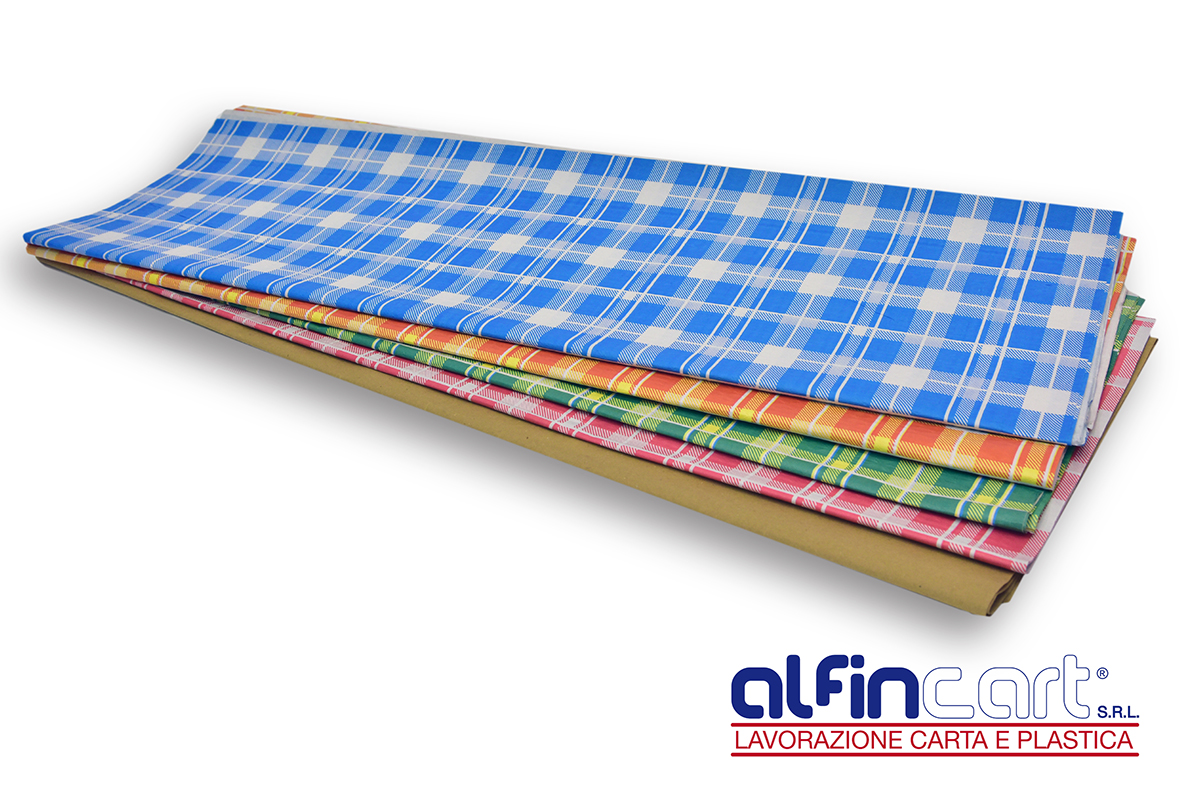 Disposable paper tablecloths in a variety of colours, shapes and sizes.