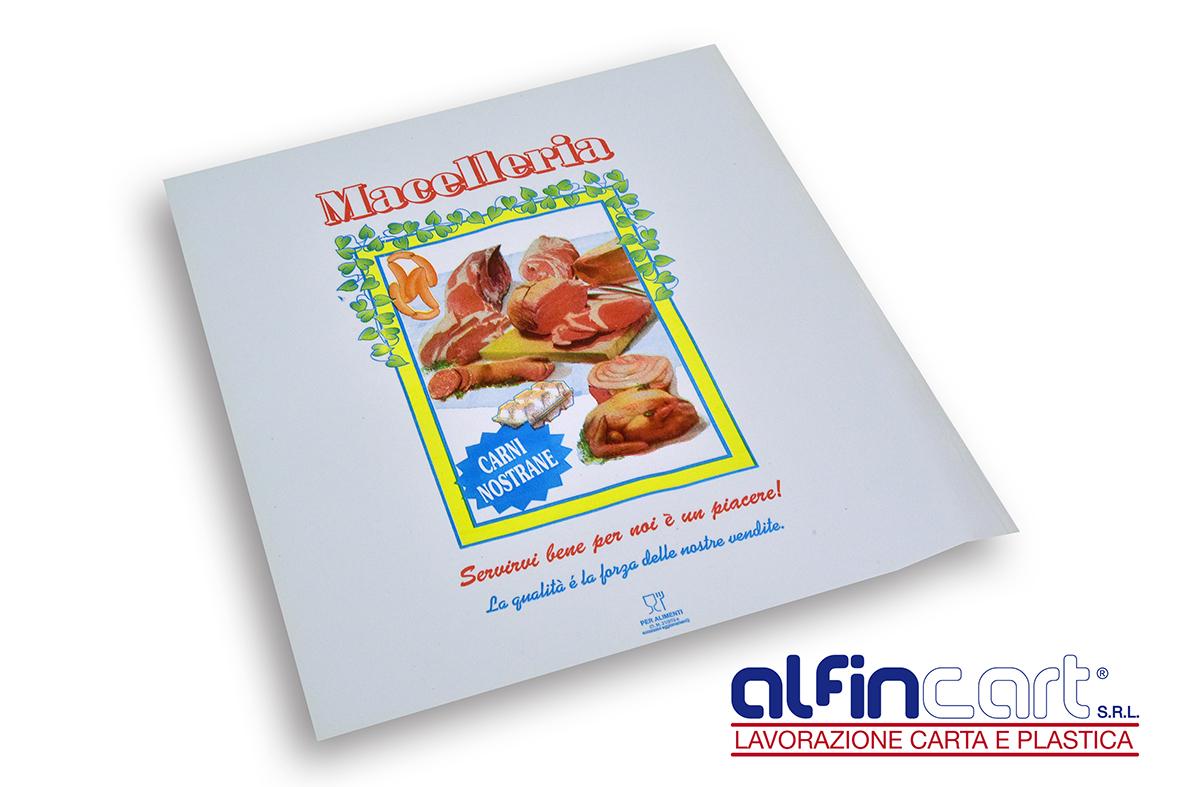 Fleischpapier mit PE Beschichtung und Fettdichte Papier.