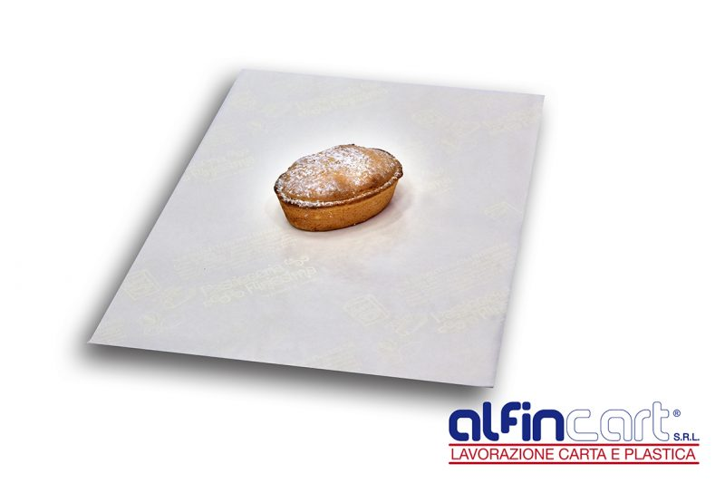 Papier cristal pergamyne fin blanc pour pâtisserie.