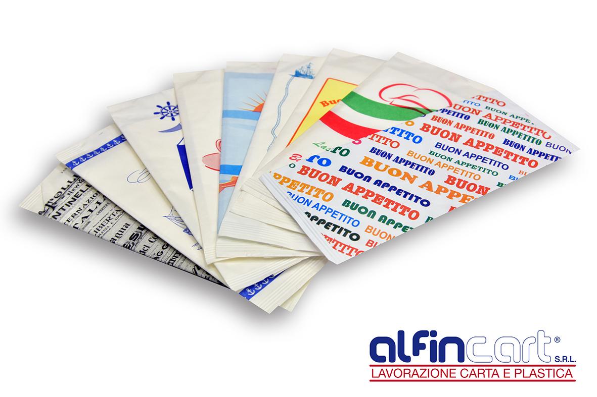 Portaposate di carta stampati con loghi personalizzati.
