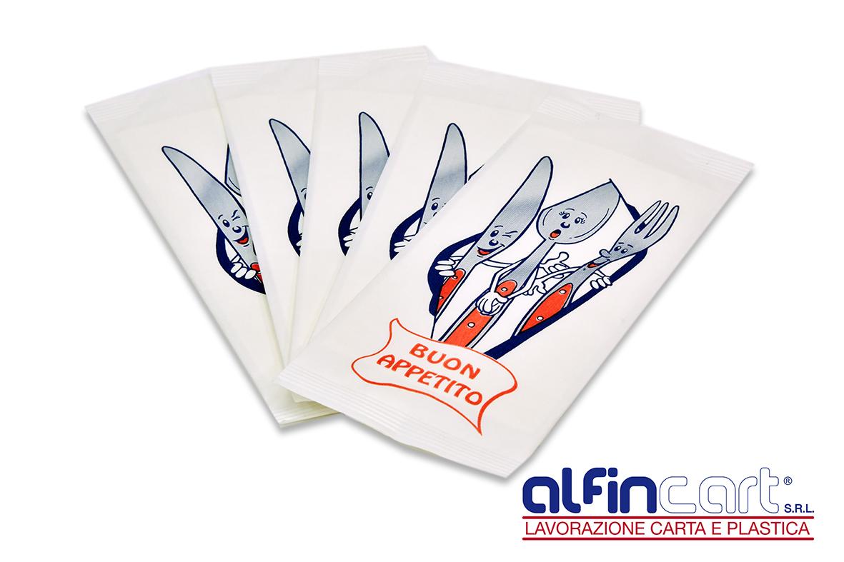 Portaposate di carta stampati con logo generico.