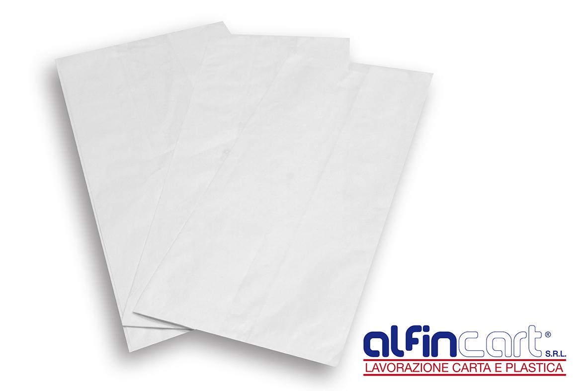 Sacchetti di carta kraft bianca.