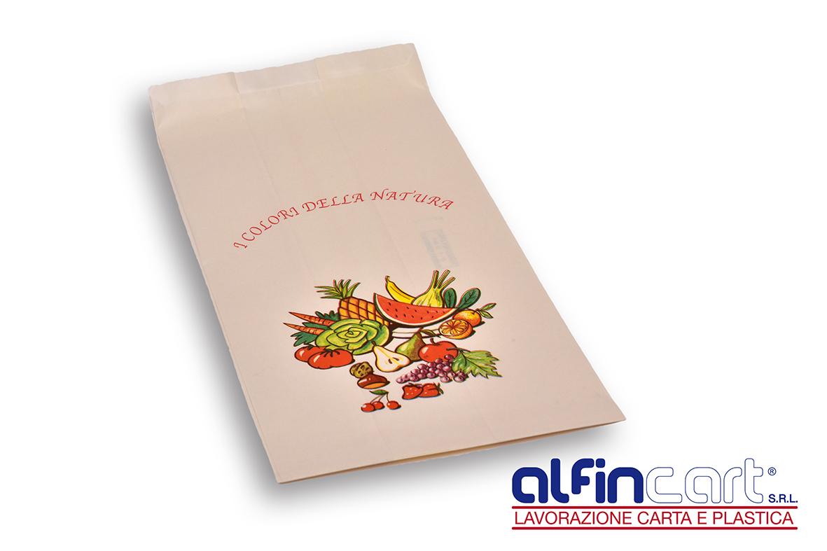 Sacchetti di carta per frutta e verdura.