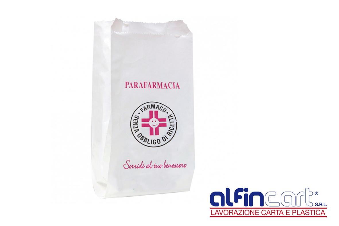 Sacs en papier pour les parapharmacies.