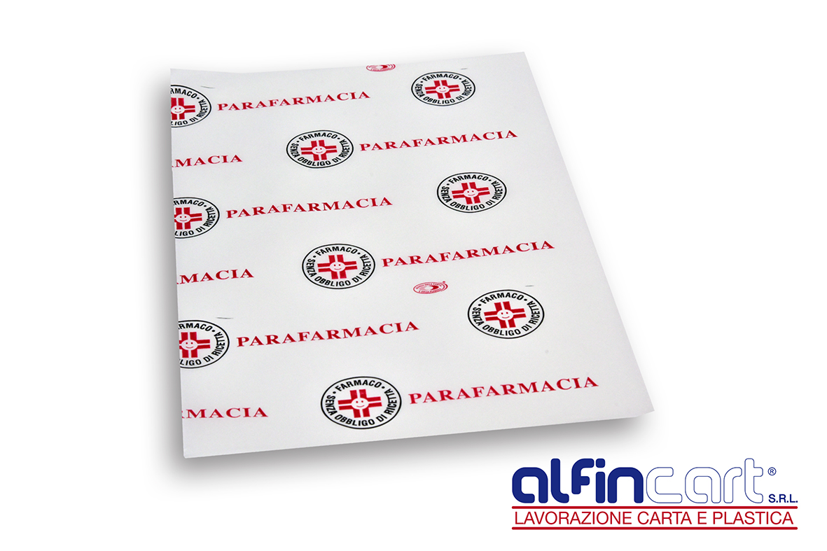 Wrapping paper with parapharmacy medical design.