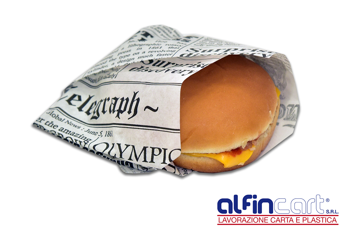 Sandwich paper for food packaging.