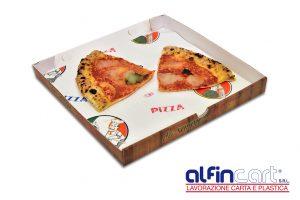 Carta sottopizza su cui adagiare la pizza da asporto all'interno della scatola di cartone.